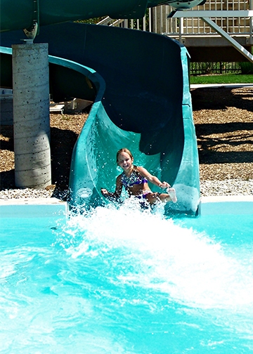 Girl on Water Slide