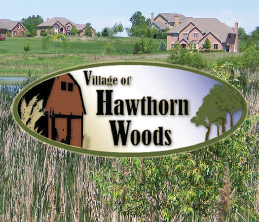 Village of Hawthorn Woods Logo with House and Grass