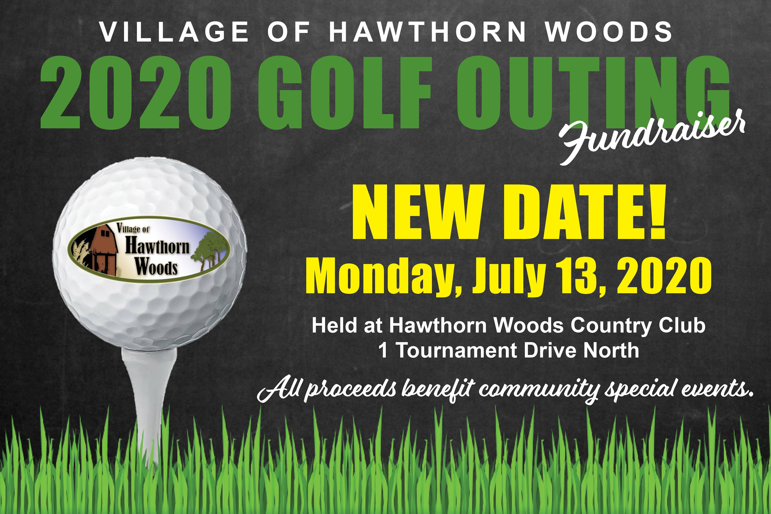 Golf Outing Save the Date 2020 New Date Monday July 13